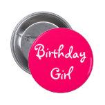 Birthday Girl Pinback Buttons