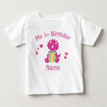 Birthday Girl Pink Dinosaur Personalized Shirt