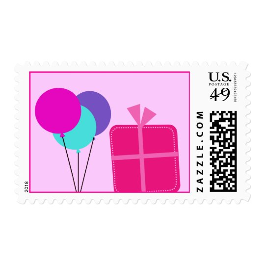 Birthday Girl Pink Postage