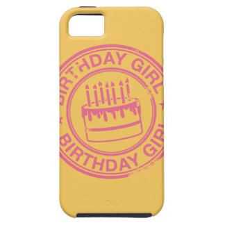 Birthday Girl -pink rubber stamp effect- iPhone SE/5/5s Case