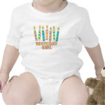 Birthday Girl Polka Dot Candles Shirt