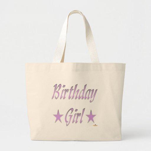 Birthday Girl Purple Stars Bags