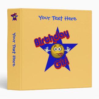 Birthday Girl Silly Smiley Face Binder