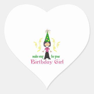 BIRTHDAY GIRL HEART STICKER