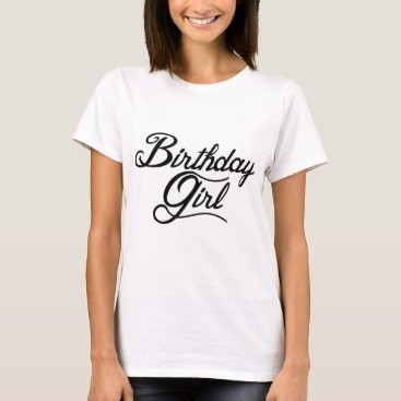 Beach Themed Birthday Girl T-Shirt