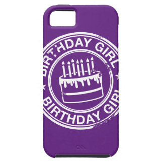 Birthday Girl -white rubber stamp effect- iPhone SE/5/5s Case
