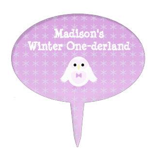 Birthday Girl Winter Onederland Cake Topper