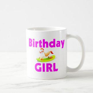 Birthday Girl With Rocking Horse Coffee Mugs
