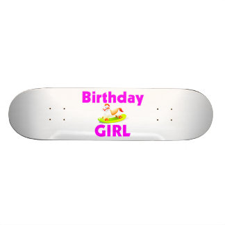 Birthday Girl With Rocking Horse Skateboard Deck