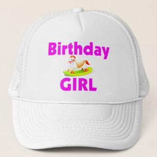 Birthday Girl With Rocking Horse Trucker Hat