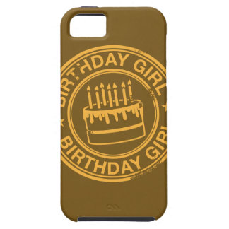 Birthday Girl -yellow rubber stamp effect- iPhone SE/5/5s Case