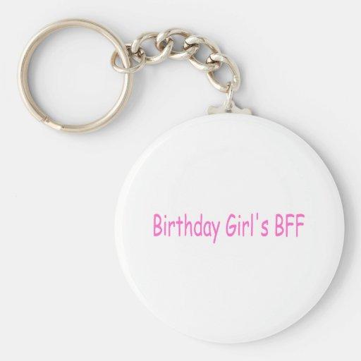 Birthday Girls Best Friend Key Chains