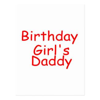 Birthday Girl's Daddy Postcard