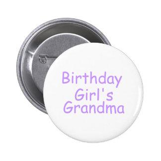 Birthday Girls Grandma Pins