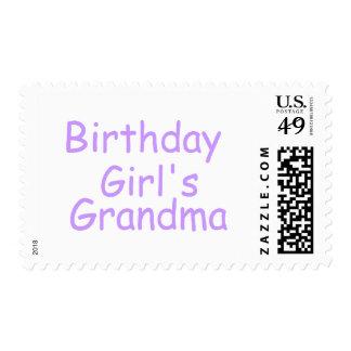 Birthday Girl's Grandma Postage