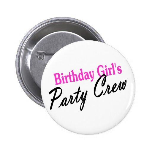 Birthday Girls Party Crew 2 Inch Round Button