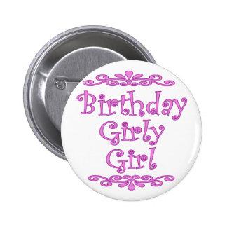 Birthday Girly Girl Button