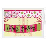 birthday...girly stationery note card