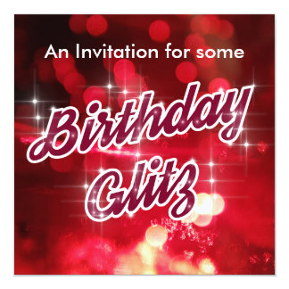 Birthday Glitz invite
