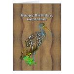 Birthday, Godfather, Limpkin Marsh Bird Card