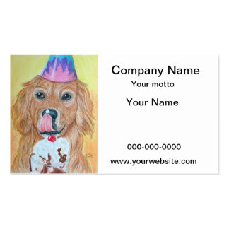 Birthday Golden Retriever Double-Sided Standard Business Cards (Pack Of 100)