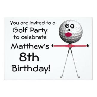 Birthday Golf Party Invitation