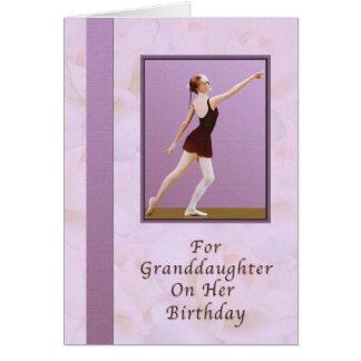 Birthday, Granddaughter, Ballerina Greeting Card