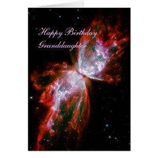 Birthday Granddaughter, Butterfly Nebula, Scorpius Card