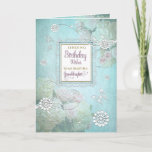 """Birthday, granddaughter, Elegant Country Floral Card<br><div class=""""desc"""">Beautiful and elegant is this soft and dreamy birthday greeting with a hint of country with its flowers blended into design along with  graphic butterflies. Image has been designed digitally for a more realistic effect.</div>"""