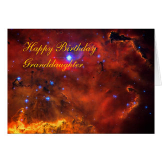 Birthday Granddaughter - Emission Nebula in Puppis Greeting Card