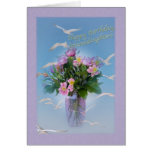 Birthday, Granddaughter, Flowers and Birds Card