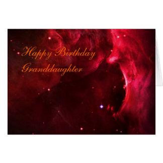 Birthday Granddaughter, Region of the Orion Nebula Card