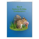Birthday, Granddaughter, Squirrel, Ice Cream Cone Greeting Card