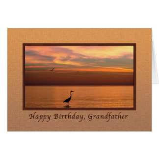 Birthday, Grandfather, Ocean View at Sunset Card
