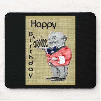 Birthday Grandpa waiter Mousemat