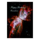 Birthday Grandson - Butterfly Nebula in Scorpius Card