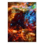 Birthday Grandson, Stellar Group, Tarantula Nebula Greeting Card