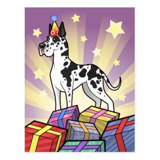 Birthday Great Dane Postcard