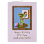 Birthday, Great Grandmother, Still Life, Rose Greeting Card