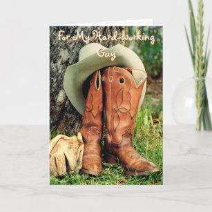 684da549ad9 Birthday Greeting Card  Cowboy Hat and Boots Card