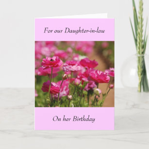 Daughter in law birthday cards zazzle birthday greeting card daughter in law m4hsunfo
