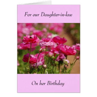 Birthday Greeting Card - Daughter-in-Law
