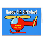 Birthday greeting card for boys | Toy helicopter