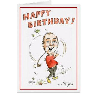 Birthday greeting card for golfing man!