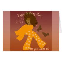 Birthday greeting card for Mom