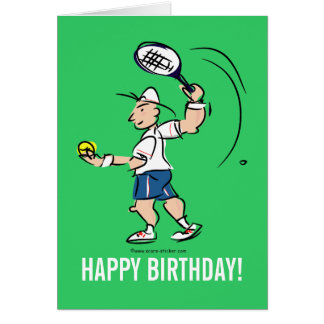 Birthday greeting card for tennis player