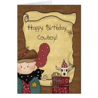 Birthday Greeting Card Lil' Cowpoke Cowboy