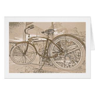 Birthday Greeting Card with Vintage Bicycle