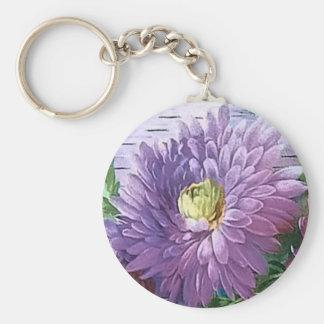 BIRTHDAY GREETING FLOWERS by SHARON SHARPE Keychain
