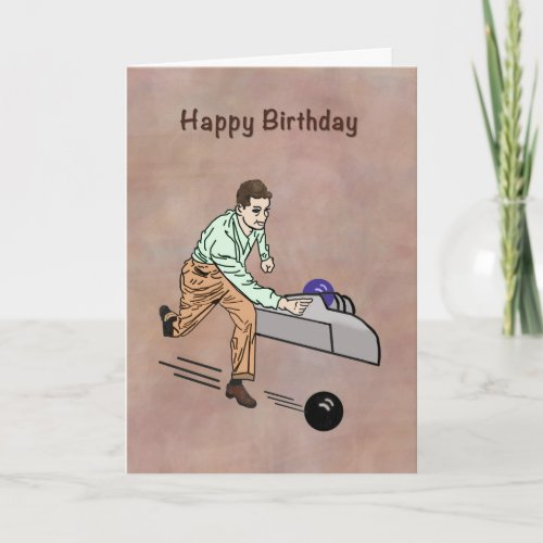 Birthday Greeting for Golfer Customizable Card